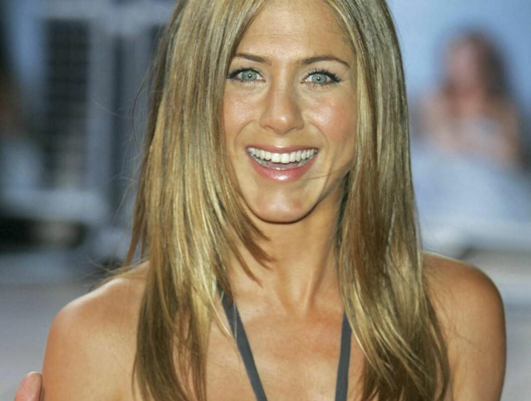 <strong>OVERLYKKELIG:</strong> Jennifer Aniston gleder seg til bryllupet, og vil ha en enkel og spirituell seremoni. Foto: All Over Press