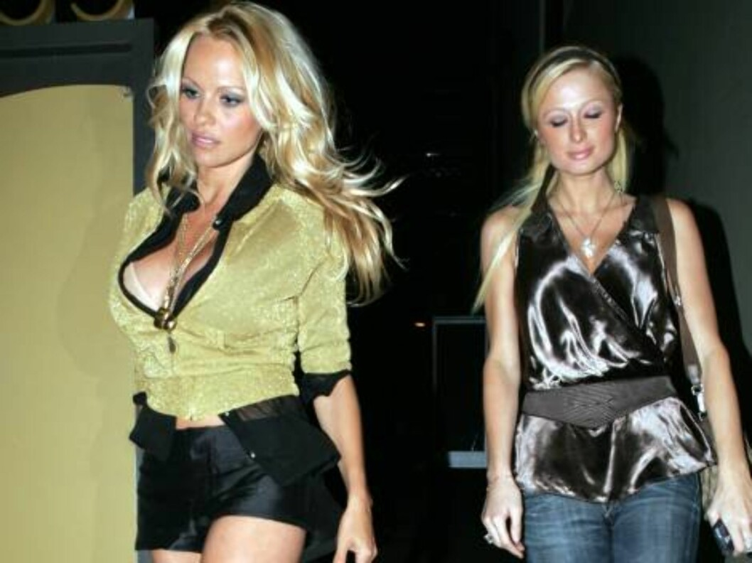 Powergirls Paris Hilton and Pamela Anderson at club Shag party together.Mai 8 2006 X17agency exclusive / ALL OVER PRESS Foto: All Over Press