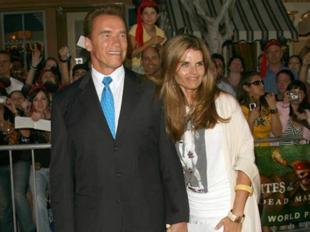<strong>SJEFEN:</strong> Californias guvernør Arnold Schwarzenegger og kona Maria Shriver. Foto: All Over Press