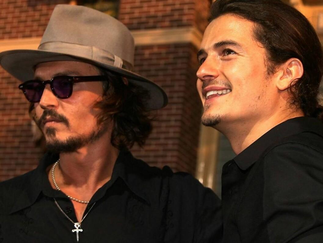 <strong>RØVERGUTTER:</strong> Johnny Depp og Orlando Bloom blir endelig å se i Pirates-oppfølgeren. Foto: All Over Press