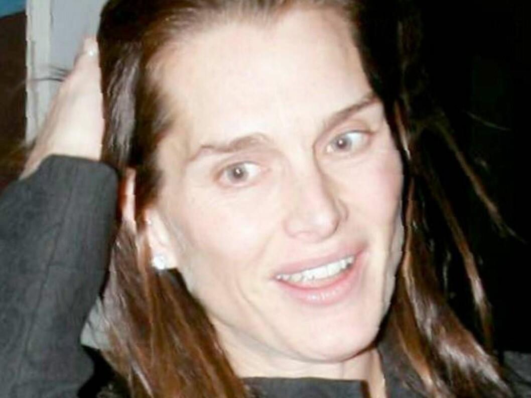<strong>BAD HAIR DAY:</strong> Selv ikke Brooke Shields ser ut som et sexsymbol hele tiden. Se flere bilder under. Foto: All Over Press