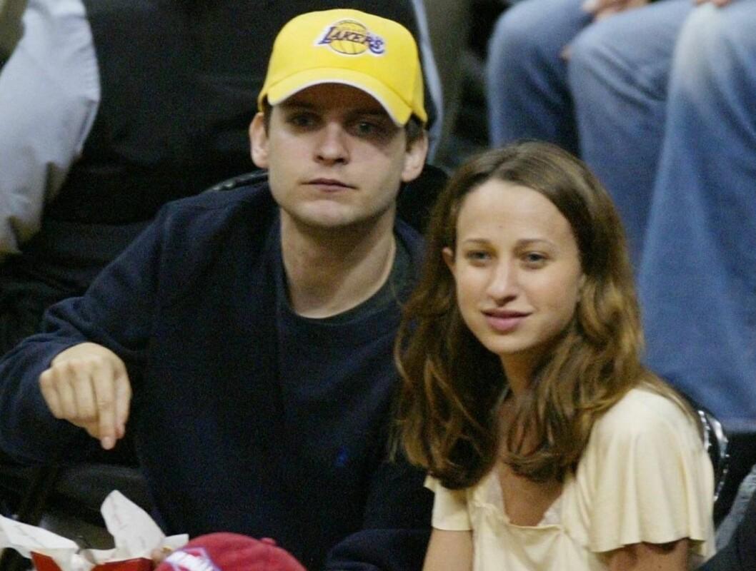 STOLTE FORELDRE: Tobey Maguire og Jennifer Meyer har vært sammen siden 2003. I april i år fridde Toby og fikk ja... Foto: All Over Press