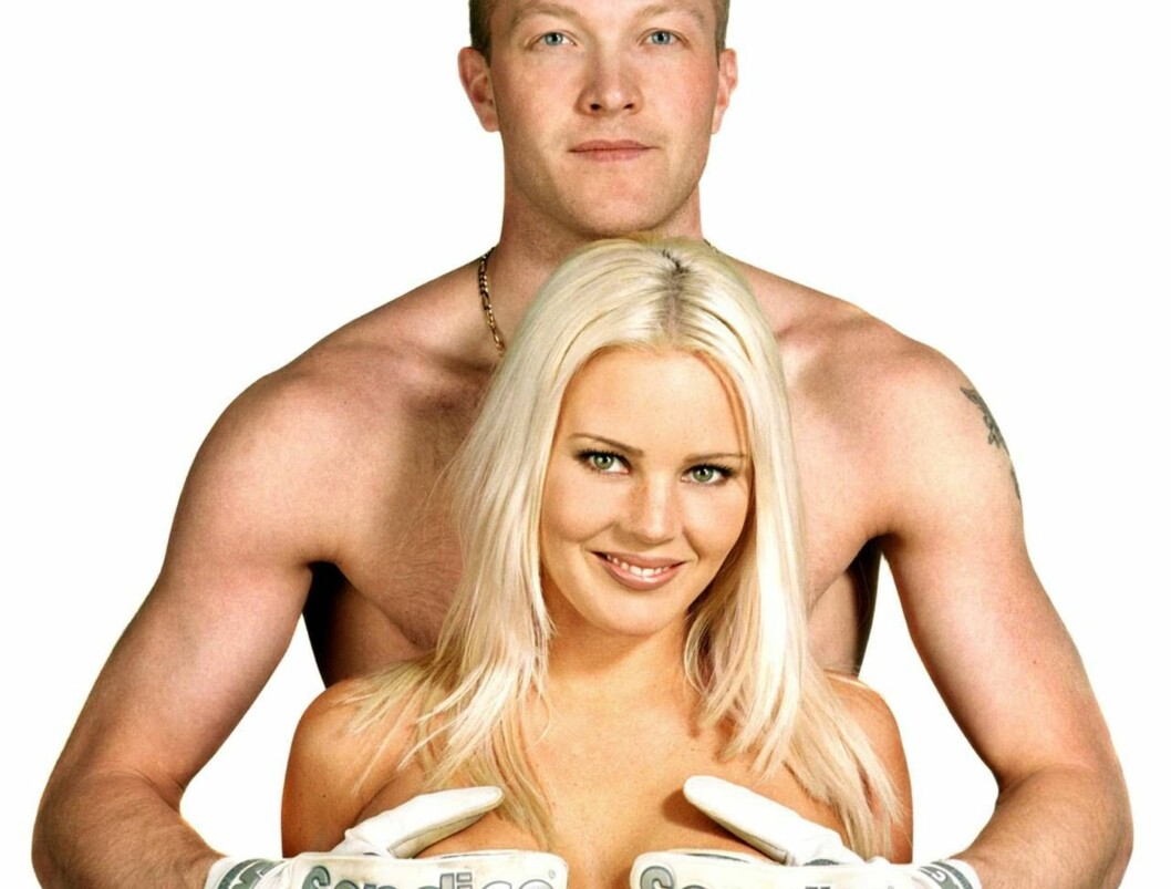 <strong>SEXY PAR:</strong> Magnus Hedman tar tak i Magdalena Graaf på nytt...  Foto: All Over Press