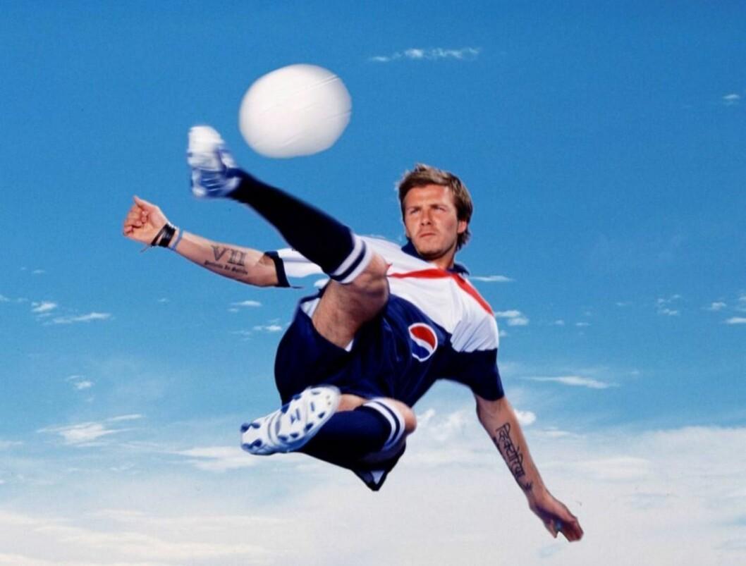 KAPTEIN: Kan David Beckham føre England til VM-gull? Foto: Pepsi