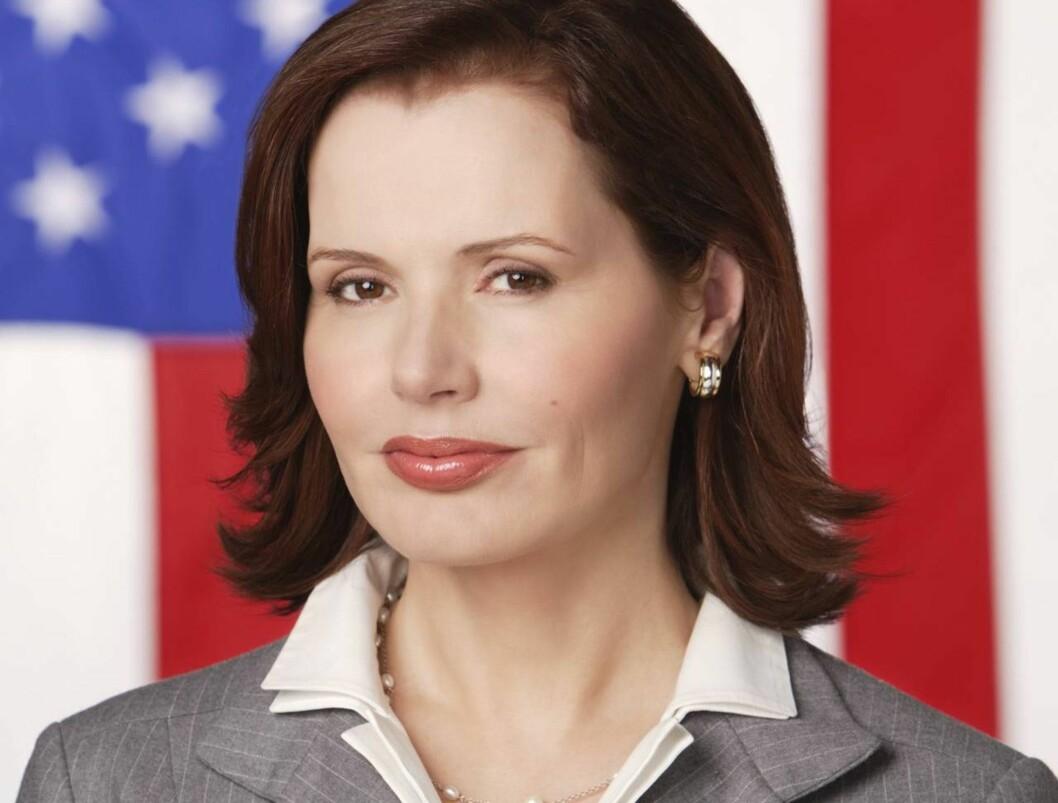 TRØBBEL: USAs kvinnelig president spilles av Geena Davis Foto: ABC