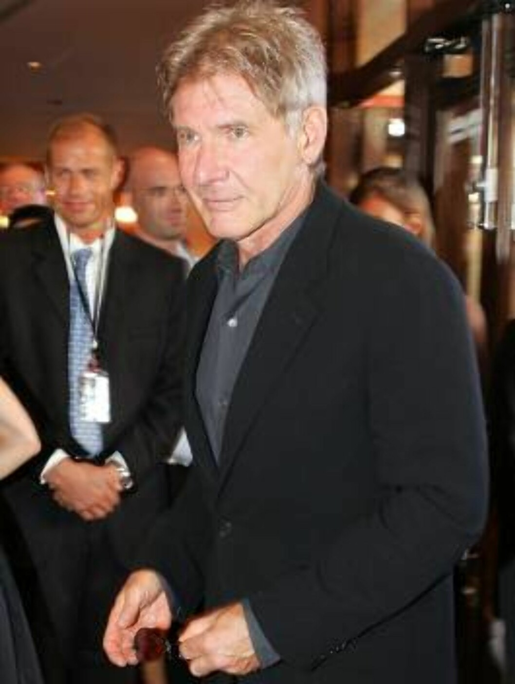 "MELBOURNE, AUSTRALIA - FEBRUARY 22:  Harrison Ford poses during the premiere of ""Firewall"" at Rivoli Cinemas on February 22, 2006 in Melbourne, Australia.  (Photo by David Teuma/Getty Images) *** Local Caption *** Harrison Ford  * SPECIAL INSTRUCTIONS:  * Foto: All Over Press"