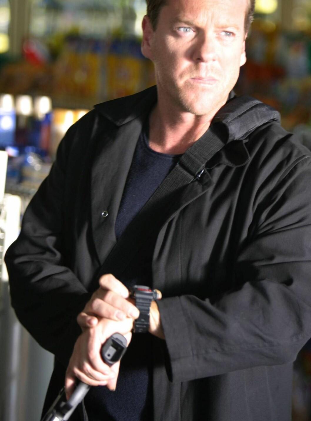 PÅ JAKT: Kiefer Sutherland som Jack Bauer i 24. Foto: TV2