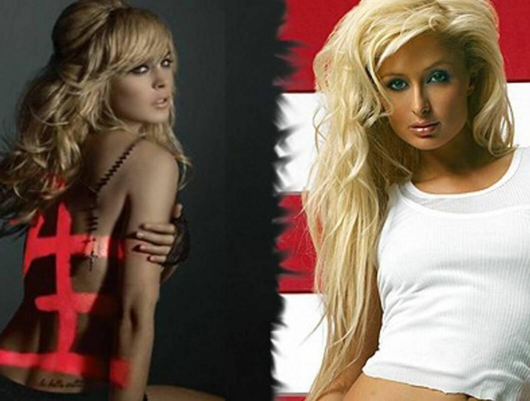 SJIKANE: Paris lot sin nye kjæreste æreskjelle Lindsay Lohan. Foto: topp.no