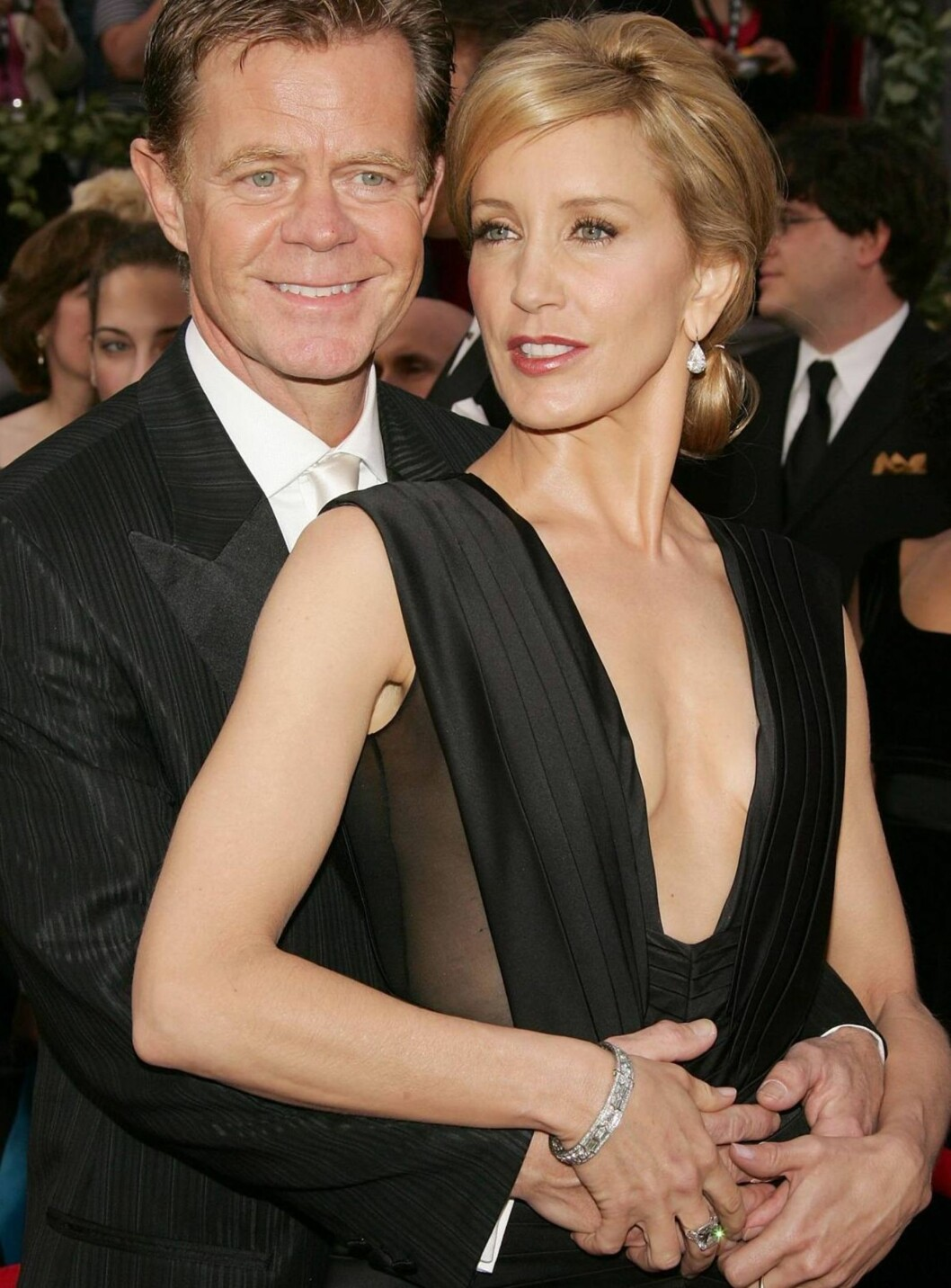 TAR SEG EN TÅR: William H. Macy og Felicity Huffman roer nervene med sprit. Foto: All Over Press