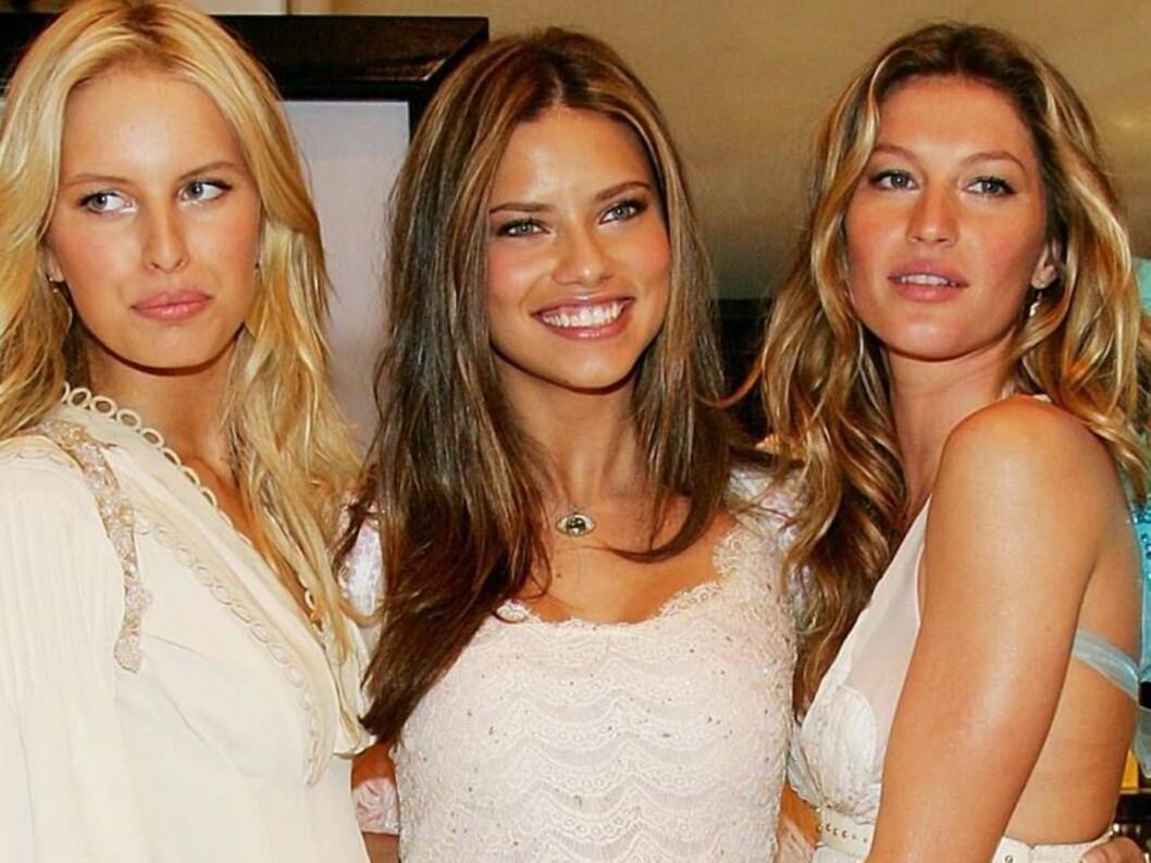 <strong>VICTORIA'S ANGELS:</strong> Karolina Kurkova, Adriana Lima og Gisele Bundchen vakte oppsikt med sine englekostymer... Foto: All Over Press