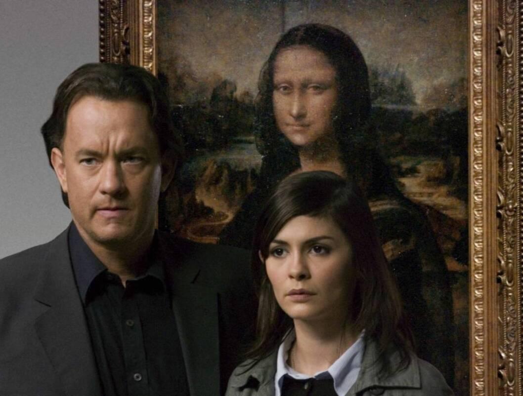 "KODEKNEKKERE:Tom Hanks og Audrey Tautou (29) løper i Leonardo Da Vincis fotspor i ""Da Vinci-koden"". Foto: Sony"