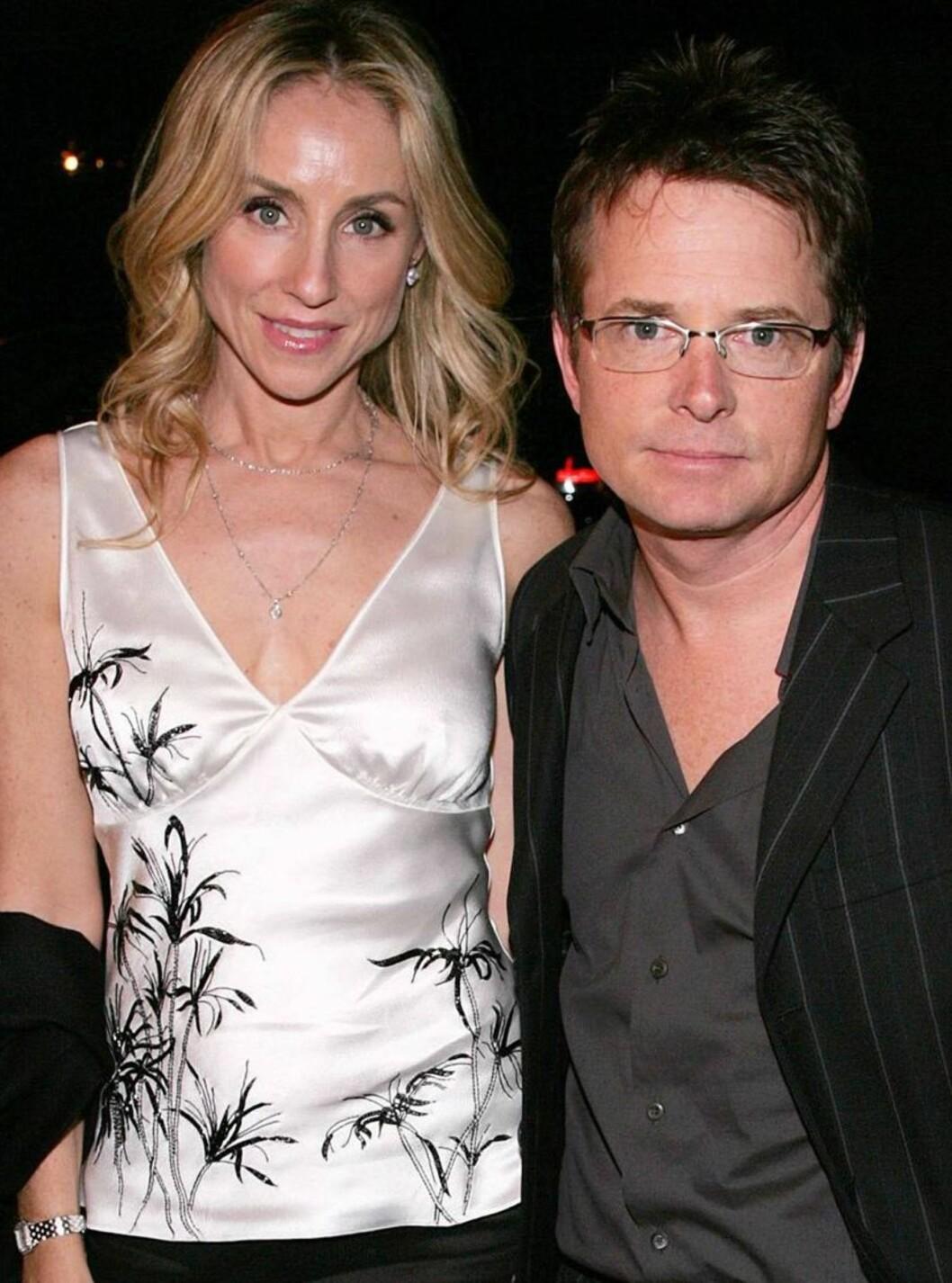 GOD STØTTE: Michael og kona Tracy Pollan giftet seg i 1988 og har fire barn sammen. Foto: All Over Press