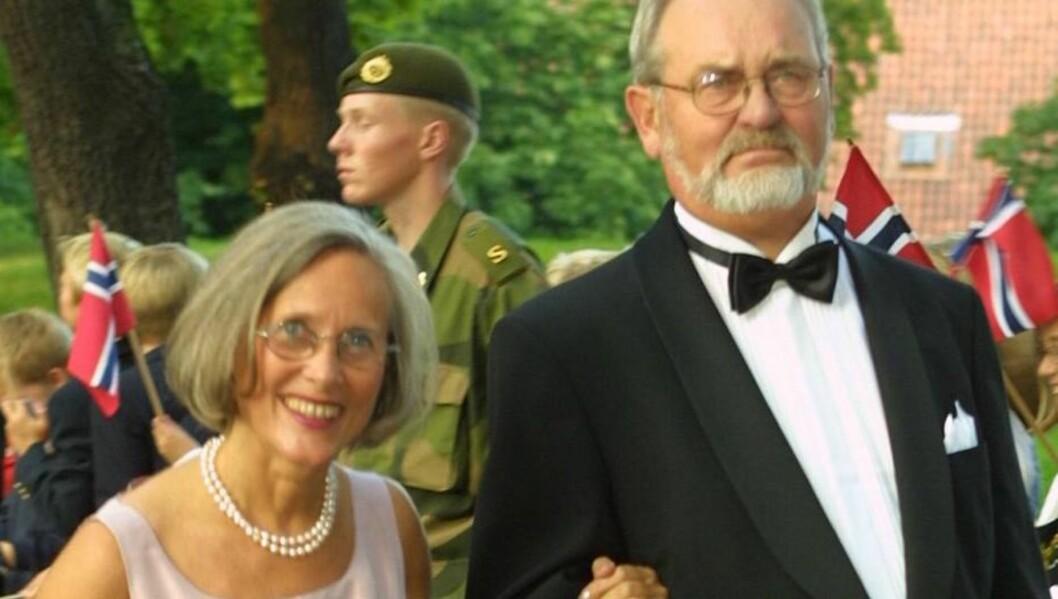 <strong>HJERTESYK:</strong> Marit Tjessem og Mette-Marits stefar Rolf Berntsen. Foto: Se og Hør