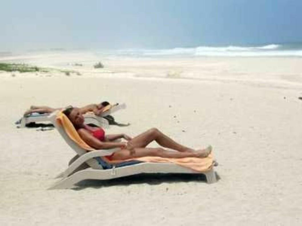 Lene Elise Bergum på ferie i Oman.  Foto: Se og Hør
