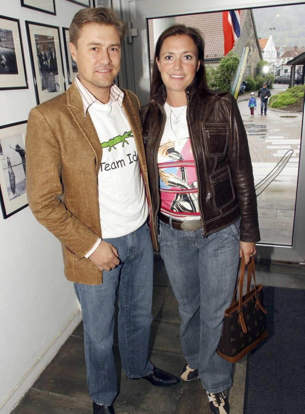 <strong>FAMILIEMANN:</strong> Idar Vollvik verner godt om privatlivet med kona Anita.