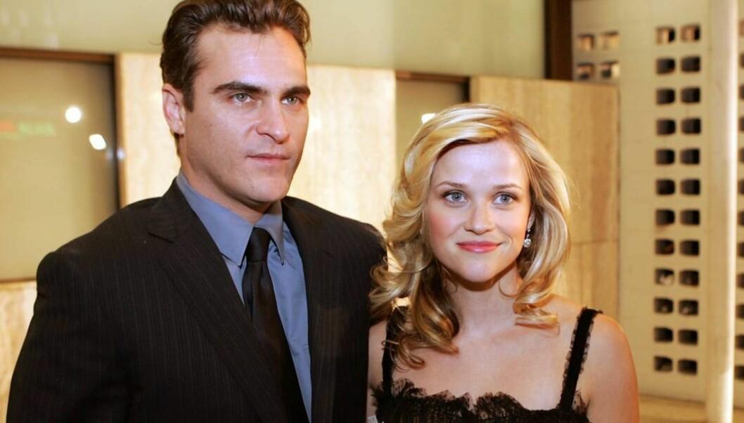 """<strong>SUKSESSPAR:</strong> Joaquin Phoenix og Reese Witherspoon spilte Johnny Cash og June Carter i Oscarfilmen """"Walk The Line"""". Foto: All Over Press"""