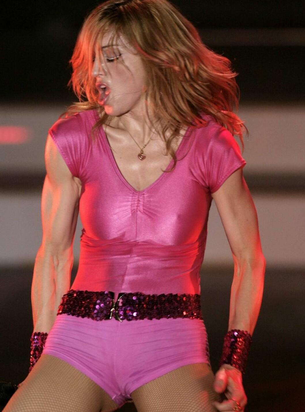 <strong>SPREK:</strong> Madonna har en figur selv tenåringer misunner henne. Men det koster en god del slit vil vi tro. Foto: All Over Press