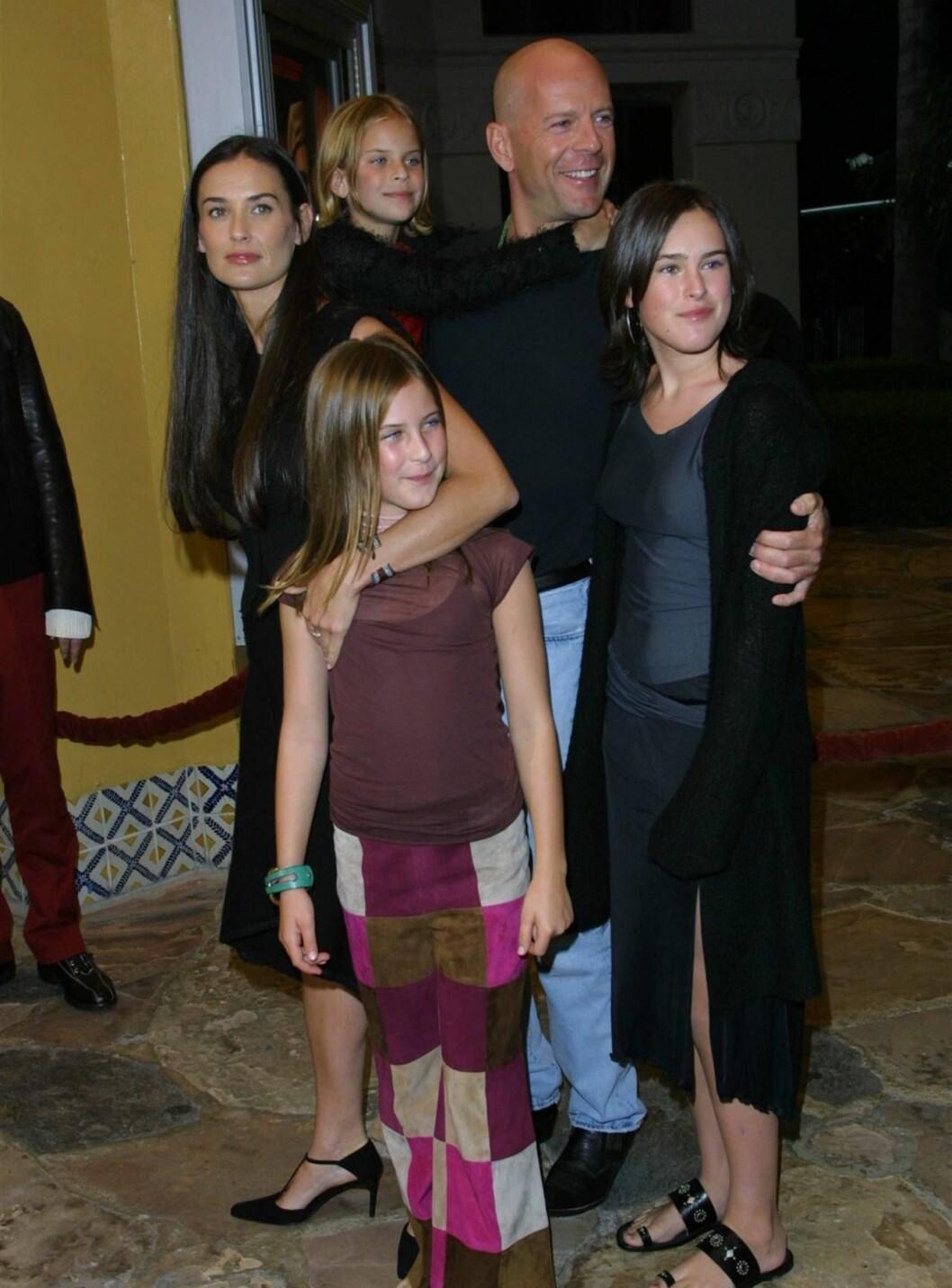 <strong>FØRSTE FORSØK:</strong> Demi har fra før tre barn med Die Hard-stjernen Bruce Willis. Foto: All Over Press