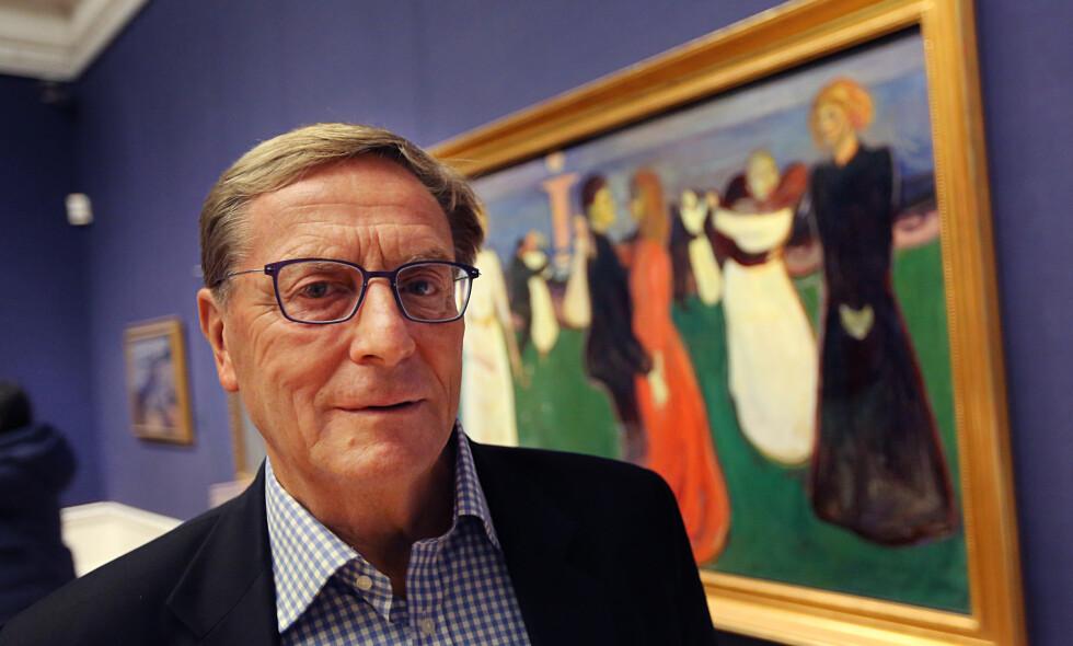 ÅREMÅL: Styreleder SveinAaser håper å få mange kvalifiserte søkere til åremålsstillingen som direktør ved Nasjonalmuseet. Han går av som styreleder ved nyttår etter åtte år. Foto: NTB Scanpix