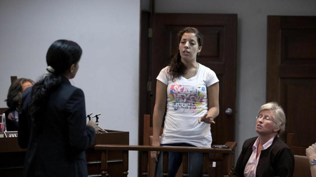 FORKLARTE SEG: Det gjenstår å se om retten fester lit til forklaringen til Madelaine Alicia Rodriguez. Foto: HENNING LILLEGÅRD