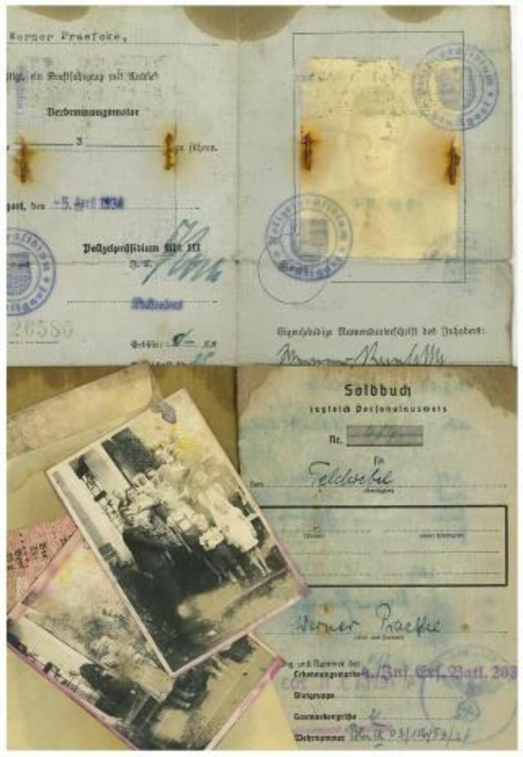 FANT EN MAPPE I FJÆRA: En ung mann fant en mappe med tyske dokumenter som stammer fra Blücher.