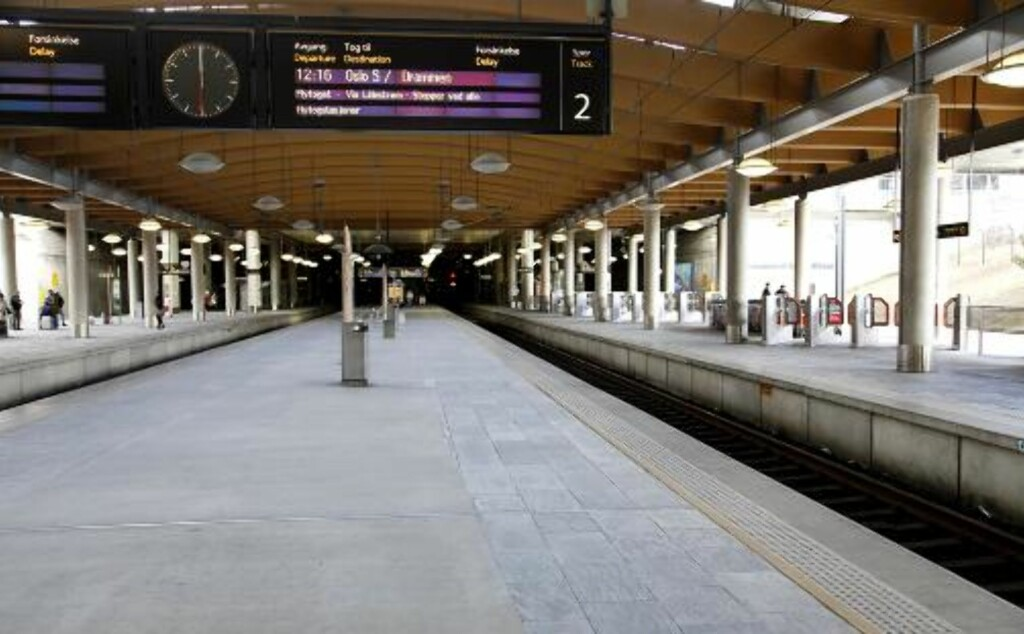 IKKE AKKURAT FOLKSOMT: Flytoget har kjørt med omtrent tomme tog til og fra Gardermoen i dag. Foto: Jacques Hvistendahl