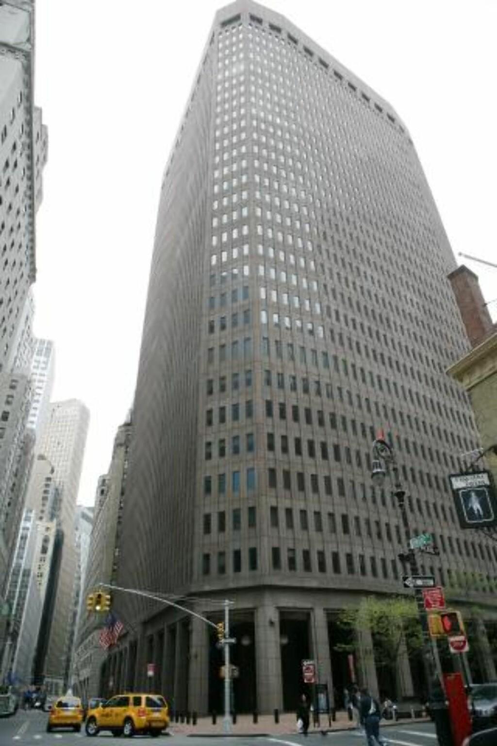 NEW YORK: Goldman Sachs-bygningen i New York. FOTO: GINO DOMENICO/EPA