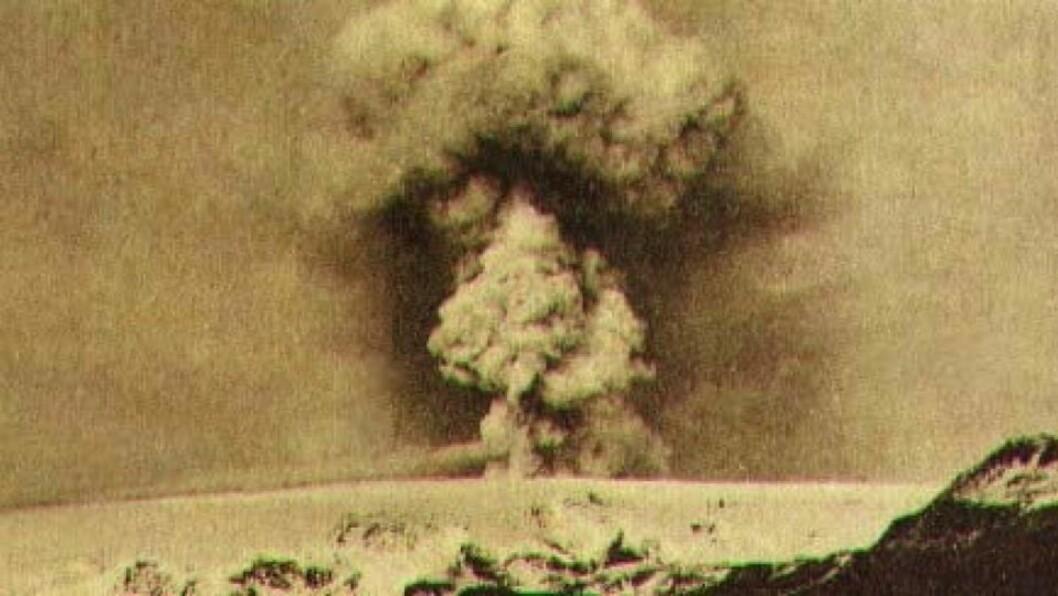 <strong>FRYKTER:</strong> Katlas sist bekreftede utbrudd var i 1918. Den kan ha hatt utbrudd senere, som ikke nådde gjennom breisen. Foto: Nordvulk