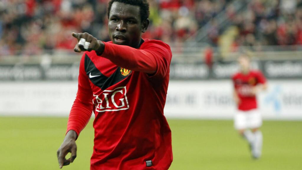 SPILTE IKKE: Mame Biram Diouf spilte ikke i Manchester-derbyet mellom United og City i går. Etter kampen ble storebroren hans angrepet av supportere av motstanderlaget. Bildet er fra United-reservenes treningskamp mot Stabæk i vinter. Foto: Heiko Junge, Scanpix