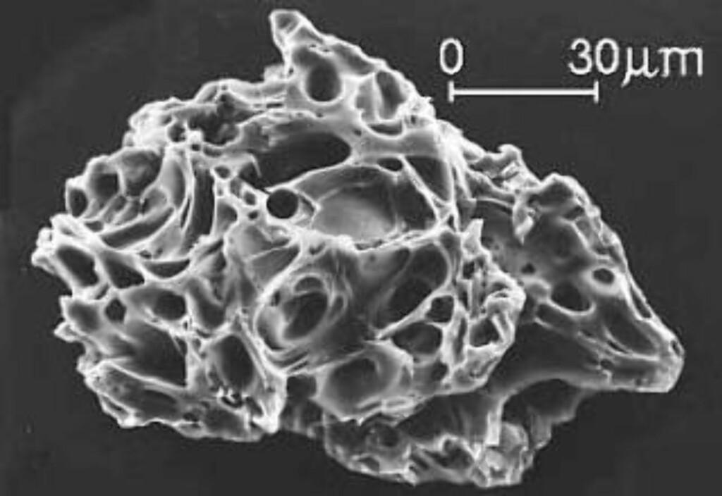 EN HÅNDFULL: Vulkansk aske er et ekstremt fint støv bestående av glasspartikler og mineralkorn. Foto: USGS