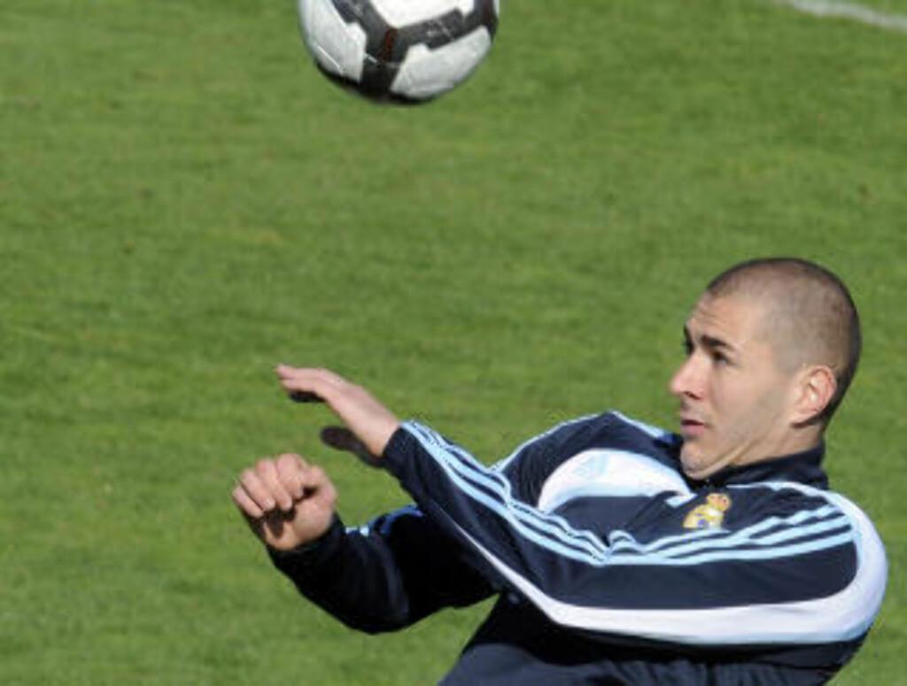 NEKTER INNBLANDING: Karim Benzema sier han ikke på noen måte er innblandet i Paris-skandalen. Foto: AFP/DOMINIQUE FAGET