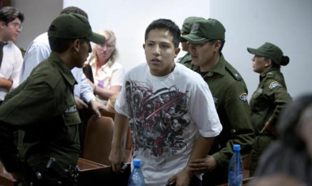 DØMT: Norsk-bolivianske Augusto Toro-Blacutt (24) ble i går kveld dømt til 20 års fengsel i Bolivia. Foto: Henning Lillegård