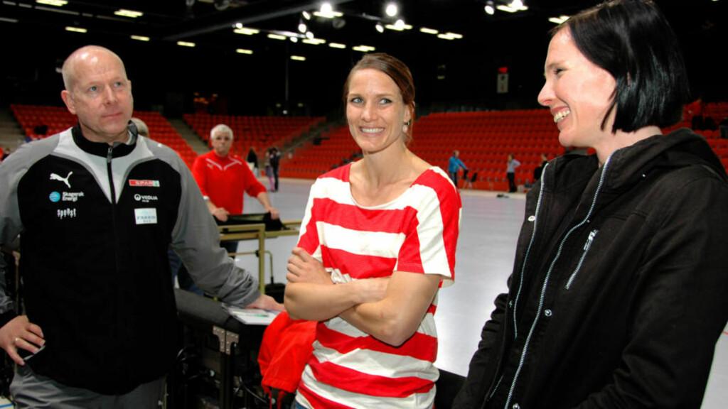FLYTTER SNART TIL NORGE: Gro Hammerseng og Katja Nyberg flytter til Larvik om et par måneder, for å spille for Karl Erik Bøhns Larvik. Foto: STIAN HARALDSEN
