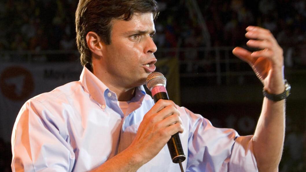 <strong>INVITERT TIL OSLO:</strong> Leopoldo López. Foto: AP/Scanpix