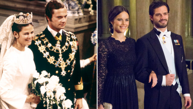 35ed39abc677 SVÆRT LIKE  For 39 år siden giftet kong Carl Gustaf og dronning Silvia (t.v