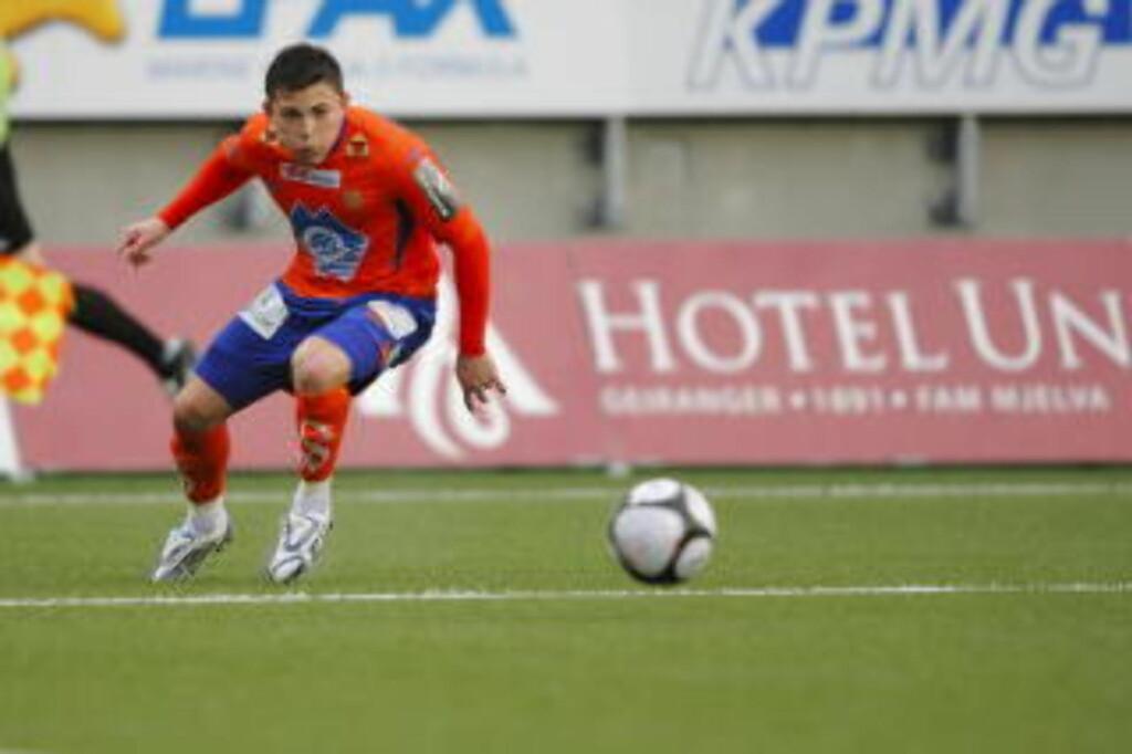 SCORET OG BLE SKADD: Pablo Herrera scoret kampens første mål, men han kom ikke på banen etter pause. Foto: Svein Ove Ekornesvaag / SCANPIX
