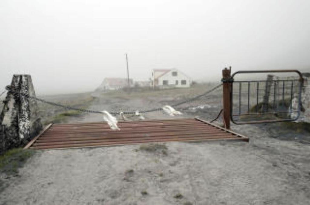 THE ROAD-AKTIG: Postapokalyptiske askescener i området rundt Eyjafjallajökull på Island. Landets meteorologiske tjeneste melder om kontinerlig askenedfall de siste 24 timene enkelte steder.Foto: AFP PHOTO/ Halldor Kolbeins/SCANPIX