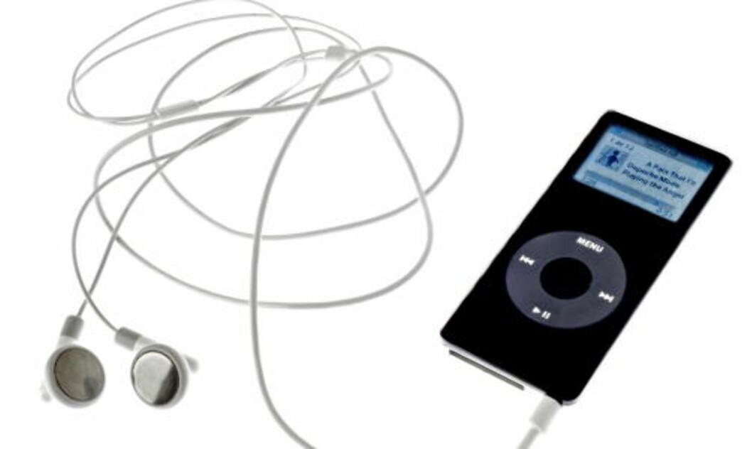 <strong>DEN NYE PLATEBUNKEN:</strong>  Samlet i en iPod.  Foto: Mette Møller / Dagbladet