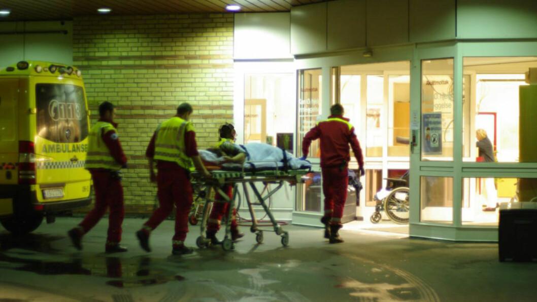 <strong>BRAKT TIL ULLEVÅL:</strong> En kvinne ble knivstukket i Oslo i natt. En mann i 50-åra er pågrepet. Foto: Tipser.no/Daniel D. Laabak