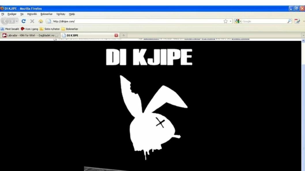 <strong>OPPLØST:</strong> Bergensbandet Di Kjipe er bandet er «oppløst i en malstrøm av indre stridigheter, narkomani og lemfeldig omgang med kniv,» heter det i en pressemelding. Faksimile: dekjipe.com