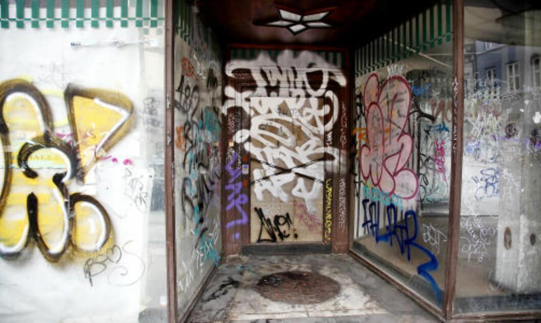 <strong>STRAFFBARE FORHOLD:</strong> I 2009 ble det registrert totalt 379 straffbare forhold i Oslo kodet som skadeverk ved tagging/grafitti med en registrert gjeringsperson. Her fra Thorvald Meyersgate i Oslo. Foto: JACQUES HVISTENDAHL/DAGBLADET