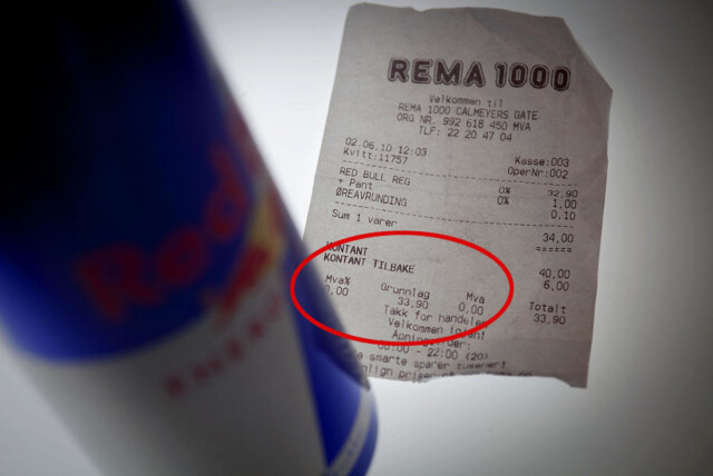 c278a82c INGENTING TIL STATEN: Rema 1000-kvitteringen skulle vist at salgssummen  omfatter 14 prosents moms