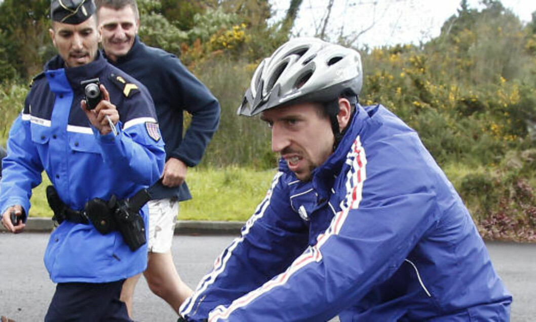 <strong>RASKEST:</strong> Franck Ribery. Foto: Francois Morii / AP.