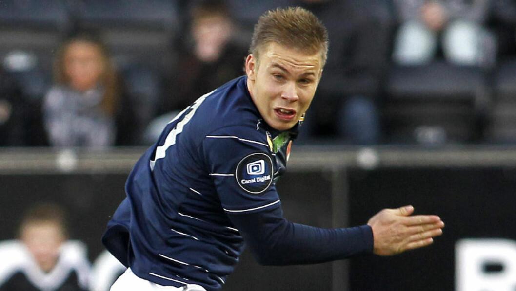 <strong>MÅLGARANTIST:</strong> Marcus Pedersen fortsetter å score for U21-landslaget. To fulltreffere mot Ungarn ble fulgt opp med et nytt mål mot Finland onsdag.Foto: Gorm Kallestad / Scanpix