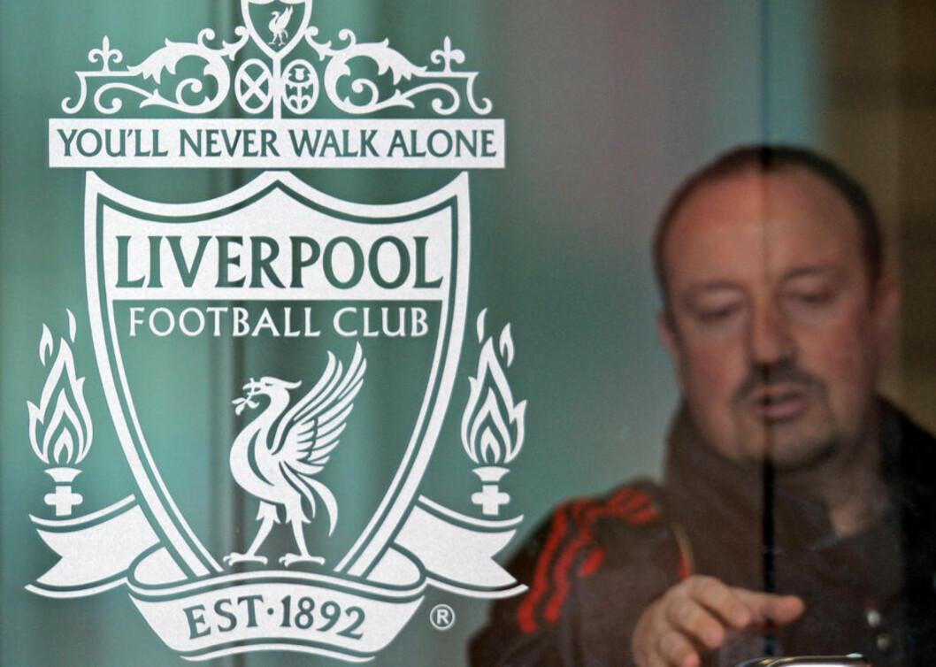 <strong>UT DØRA:</strong> Rafa Benitez har gått ut døra på Melwood for siste gang. Spanjolen slutter i jobben som Liverpool-manager etter gjensidig enighet om å avslutte samarbeidet etter seks år.Foto: SCANPIX/AFP PHOTO/ANDREW YATES