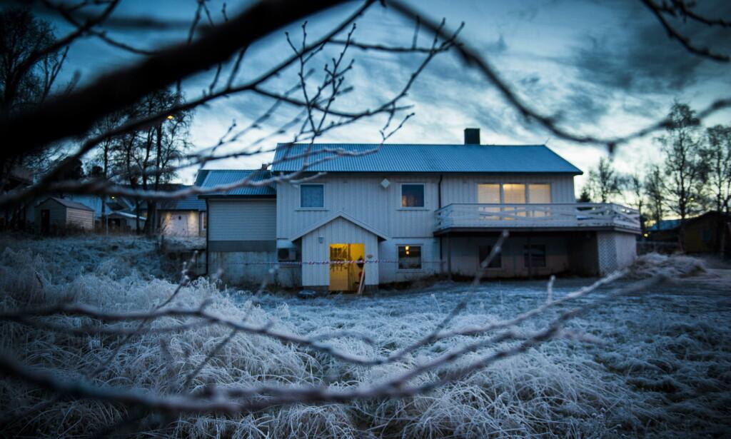 BRANT: Det var leiligheten i underetasjen, der den drapssiktede bodde, som natt til lørdag ble forsøkt påtent. Foto: Lars Eivind Bones / Dagbladet