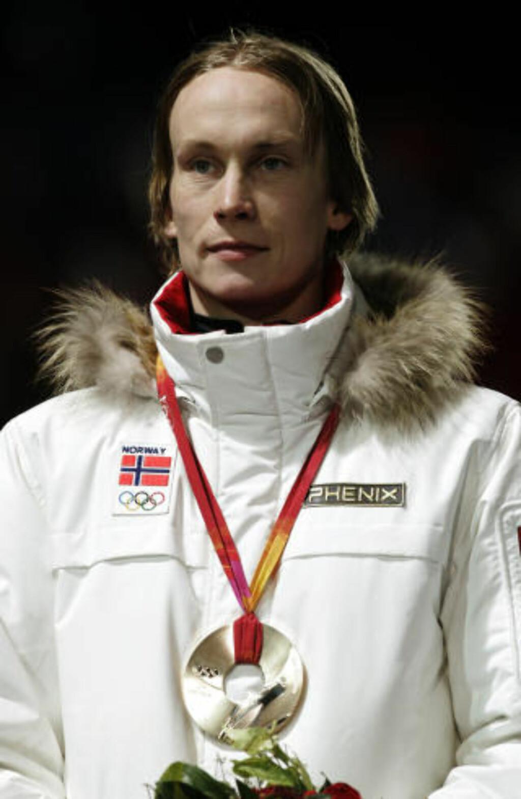 NORSK OL-VINNER: Lars Bystøl.. Foto: Cornelius Poppe / SCANPIX