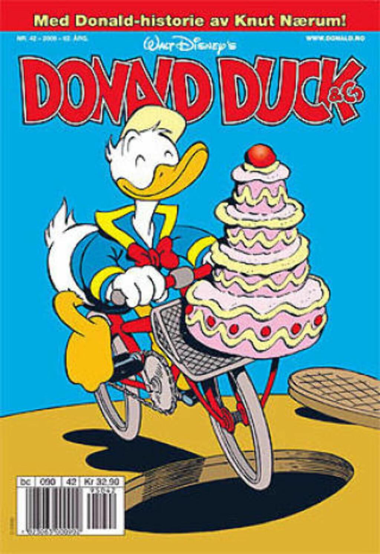 image: Knut Nærum skriver i Donald Duck