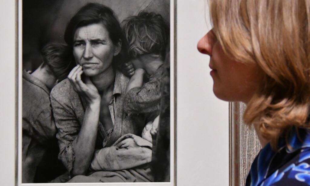 FATTIGDOM: Dorothea Langes dokumentariske bilder fra USA på 1930-tallet. Foto: NTB Scanpix