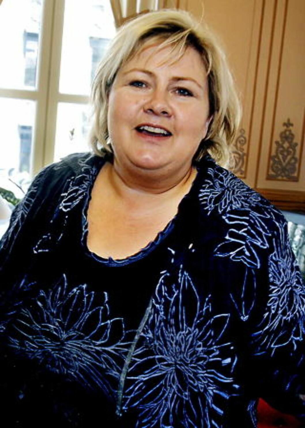 TROR PÅ STOLPROBLEMER: Høyre-leder Erna Solberg. Foto:  Jacques Hvistendahl/Dagbladet